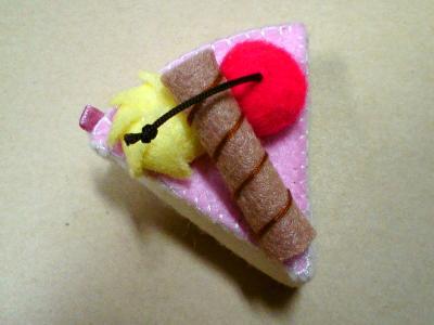 蛋糕飾品-櫻桃三角蛋糕